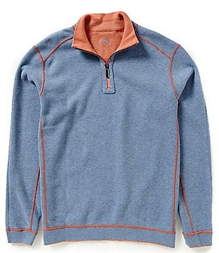 Tommy Bahama New Flip Side Pro Half-Zip Reversible Long-Sleeve Pullover