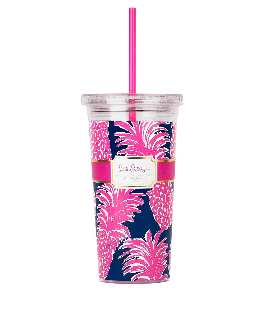 Lilly Pulitzer Flamenco Tumbler with Straw