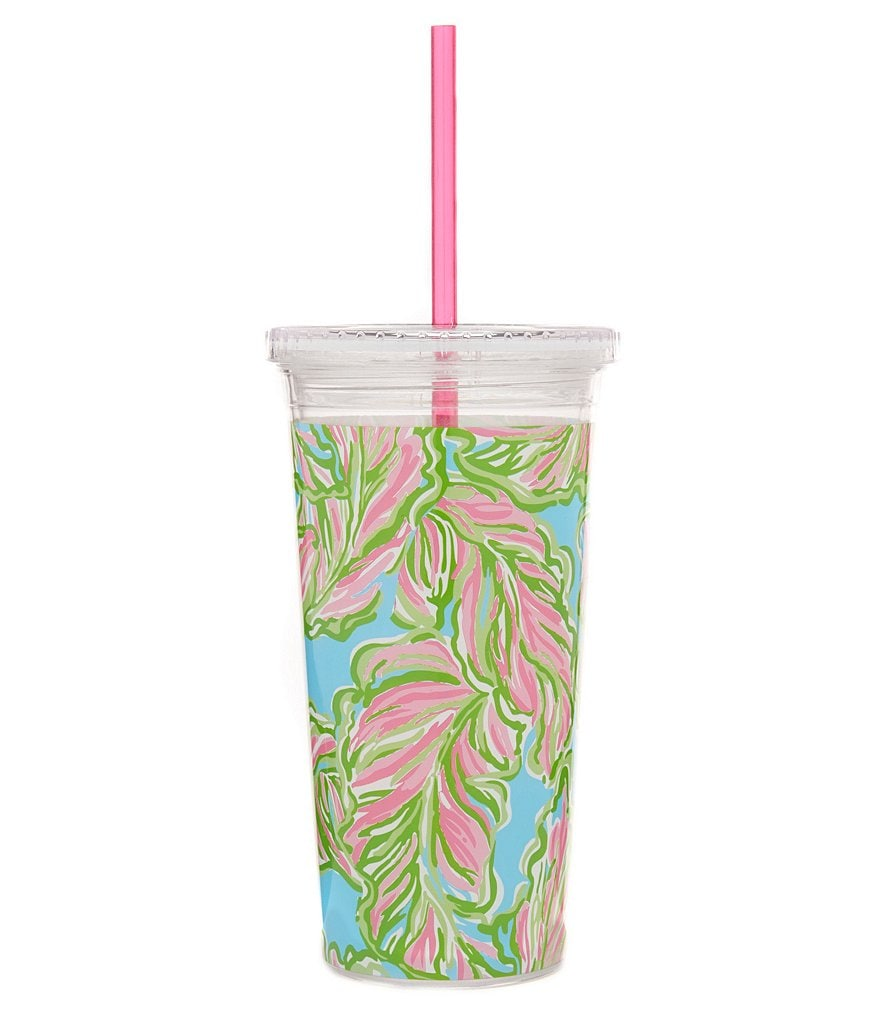 Lilly Pulitzer In the Bunga Tumbler with Straw