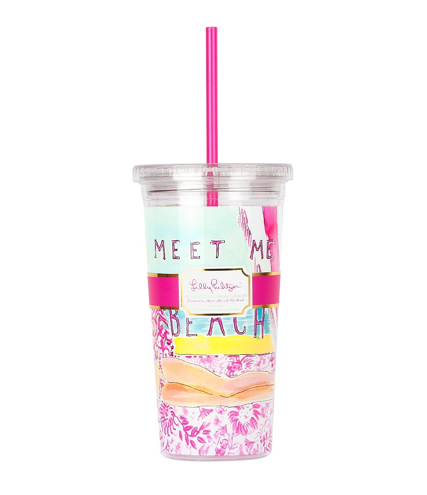 Lilly Pulitzer Meet Me at the Beach Tumbler with Straw