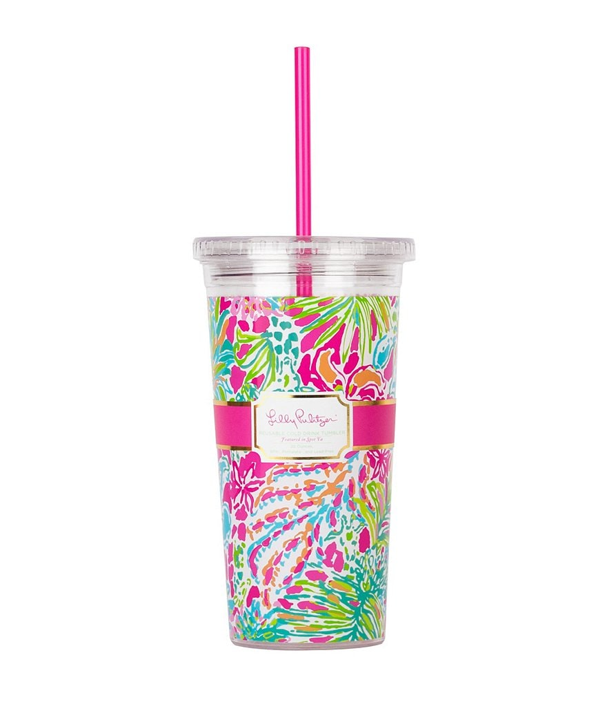 Lilly Pulitzer Spot Ya Tumbler with Straw