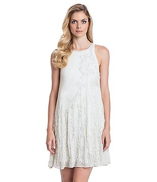 Belle Badgley Mischka Beaded Babydoll Mackenzy Dress