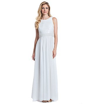 Belle Badgley Mischka Sleeveless Maria Gown