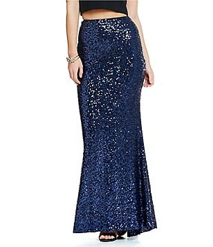 Belle Badgley Mischka Sequin Mermaid Mason Skirt