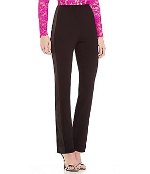 Belle Badgley Mischka Marlow Straight-Leg Tuxedo Pants