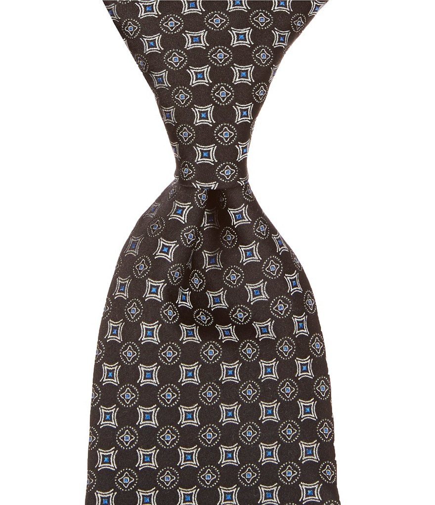 Hart Schaffner Marx Double Neat Traditional Silk Tie