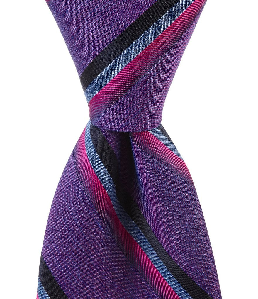 Murano Shine Stripe Traditional Tie