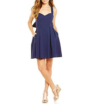 Lauren James Livingston Bow-Back Seersucker Dress