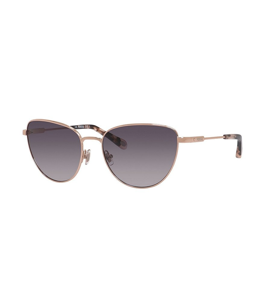 Fossil Gradient Metal Cat-Eye Sunglasses