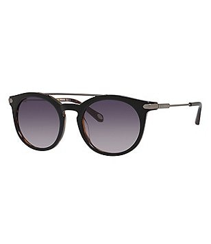 Fossil Round Double Bridge Sunglasses