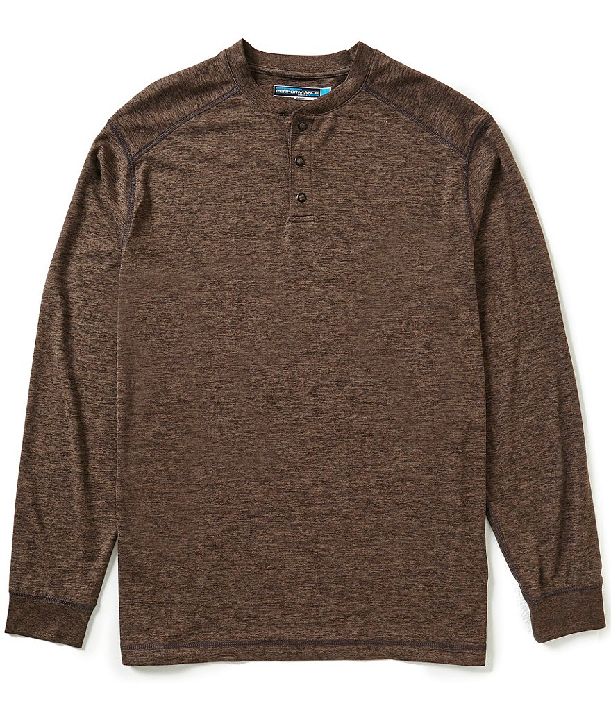 Roundtree & Yorke Performance Long Sleeve Henley