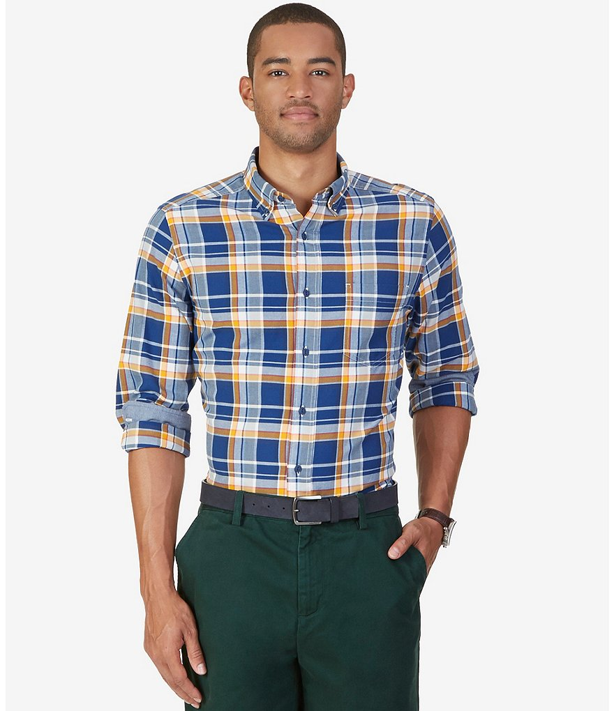 Nautica Plaid Classic-Fit Woven Shirt