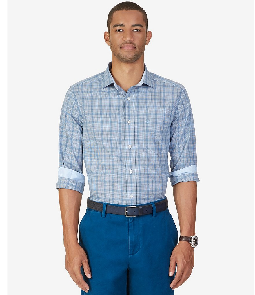 Nautica Plaid Classic-Fit Wrinkle-Resistant Shirt
