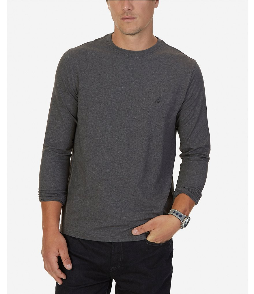 Nautica Classic-Fit Long-Sleeve Crewneck Tee