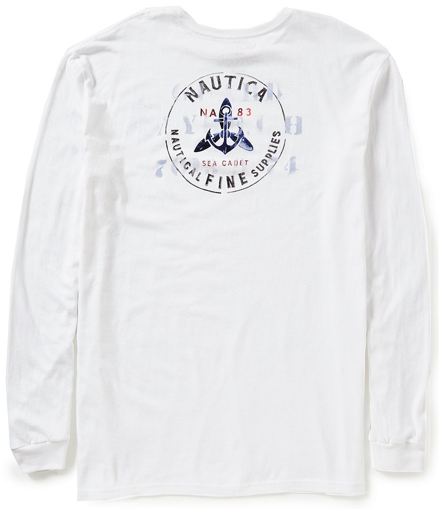 Nautica Sea Cadet Graphic Long-Sleeve T-Shirt