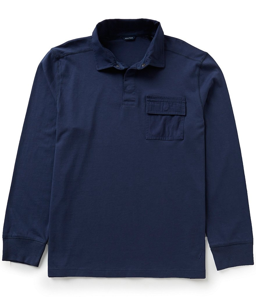 Nautica Shipman Long-Sleeve Polo Shirt