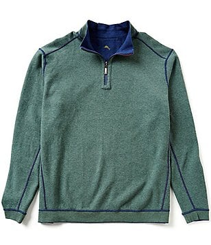 Tommy Bahama Big & Tall New Flip Side Pro Half-Zip Reversible Pullover