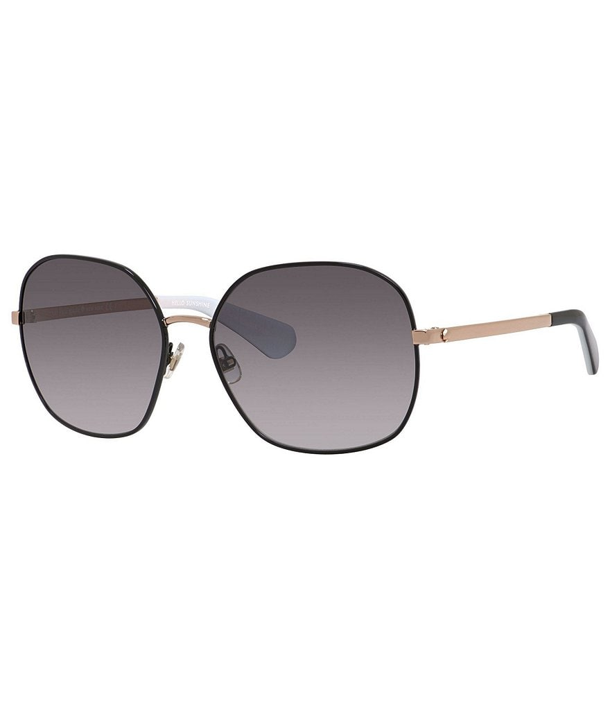 kate spade new york Carlisa Metal Oversized Gradient Sunglasses