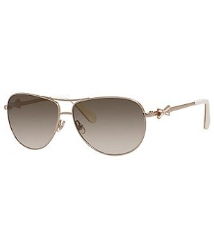 kate spade new york Circe 2 Metal Aviator Sunglasses