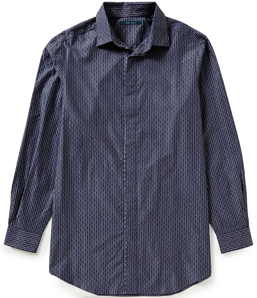 Perry Ellis Big & Tall Paisley Long-Sleeve Woven Shirt