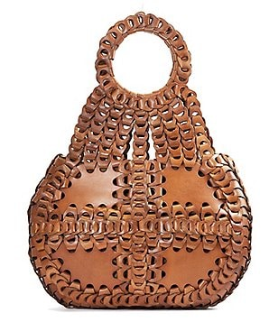 Patricia Nash Leather Chain Link Collection Pisticci Shoulder Bag