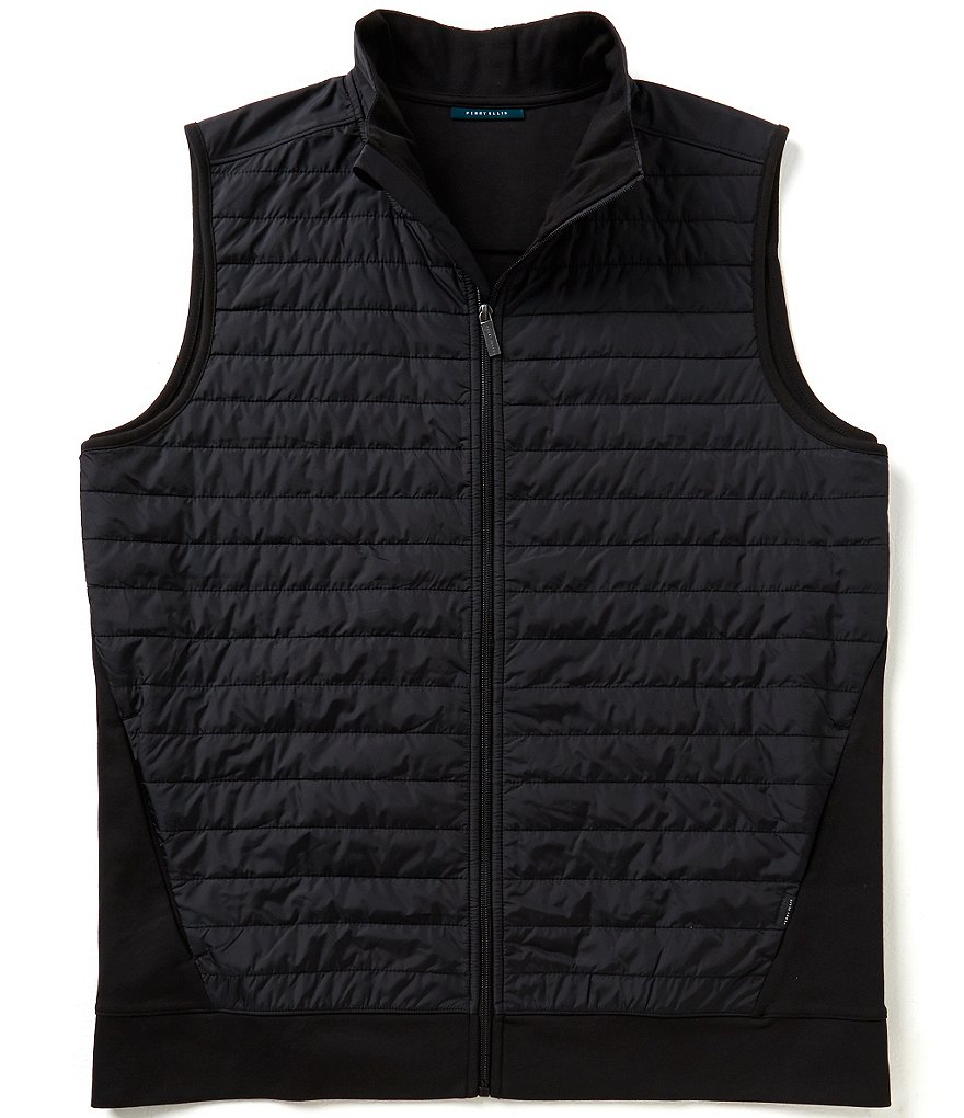 Perry Ellis Big & Tall Quilted Full-Zip Vest
