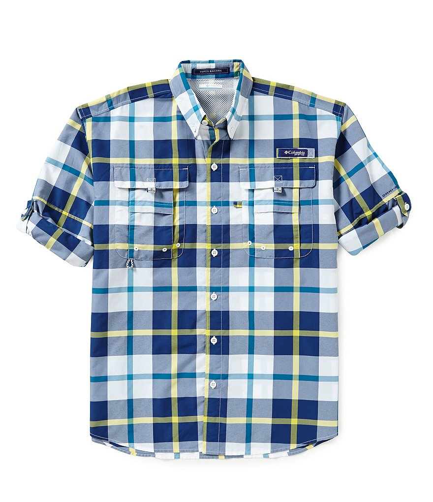 Columbia PFG Super Bahama Plaid Shirt