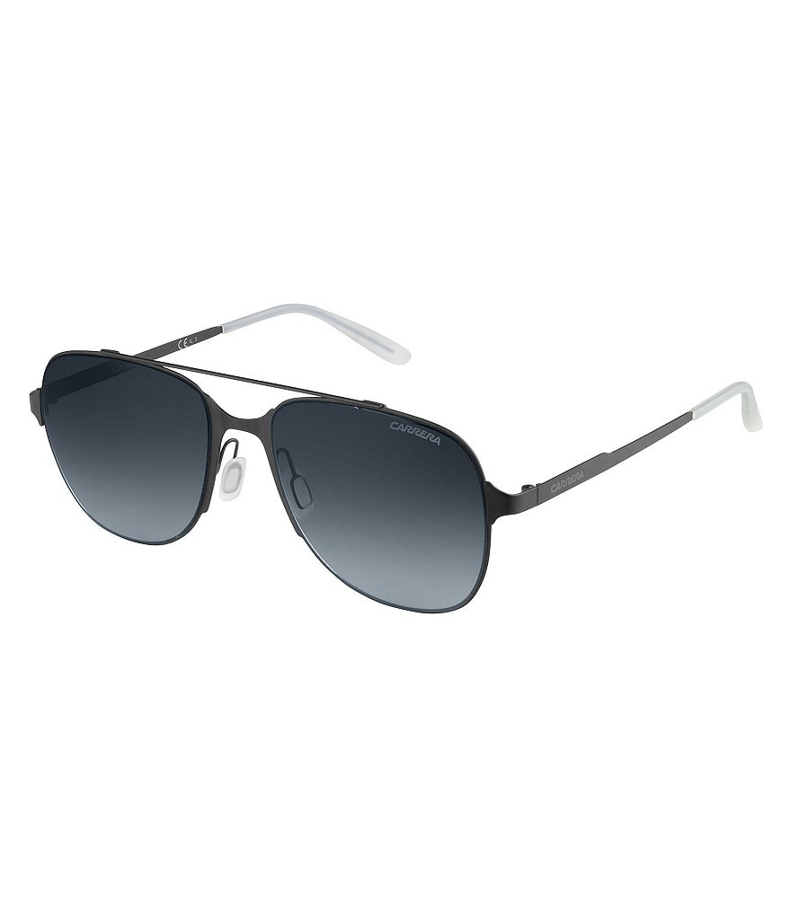 Carrera Oversized Stainless Steel Double Bridge Navigator Sunglasses