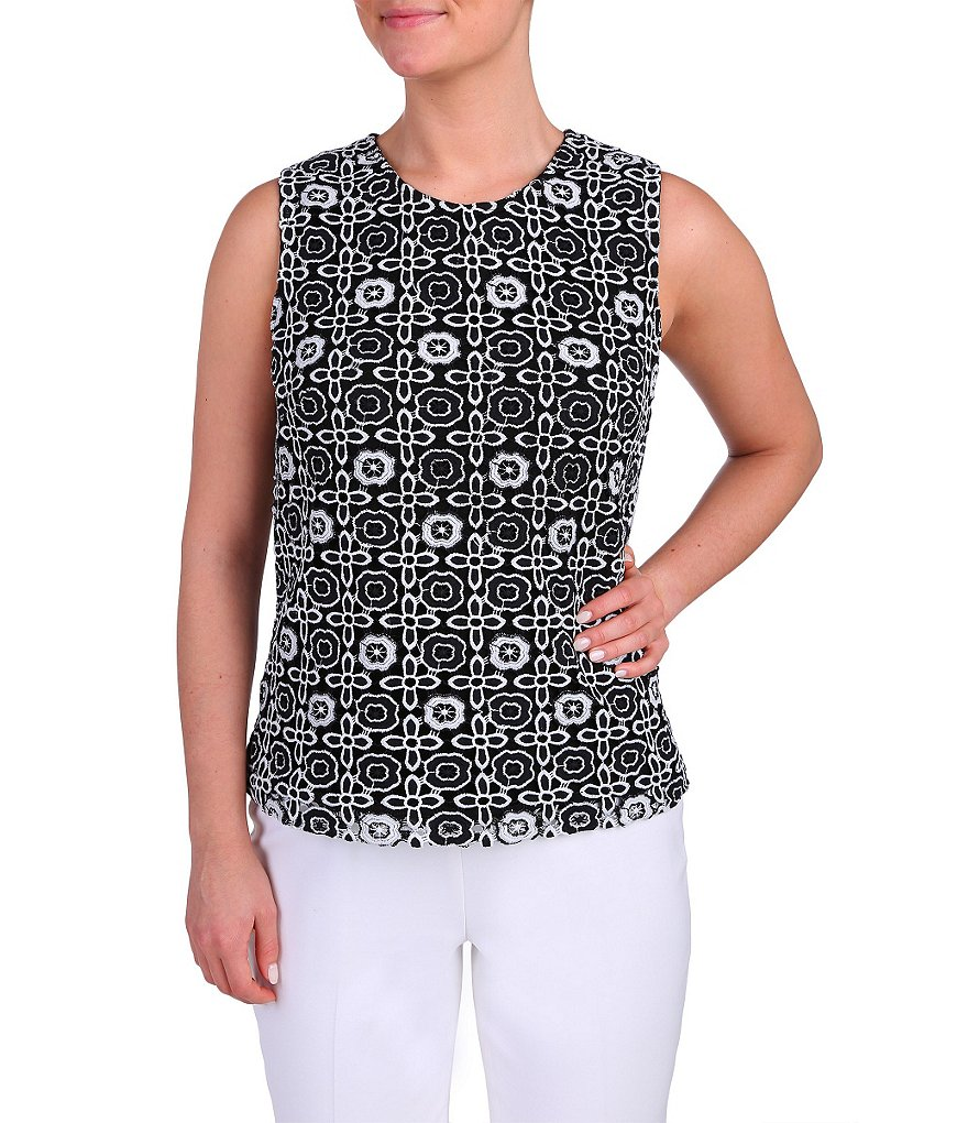 Peter Nygard Charlotte Sleeveless Lace Shell