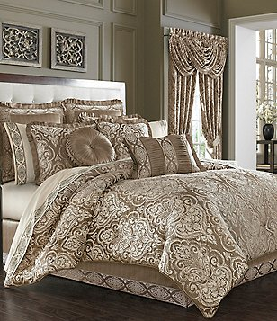 J. Queen New York Stafford Vintage Damask Jacquard Comforter Set