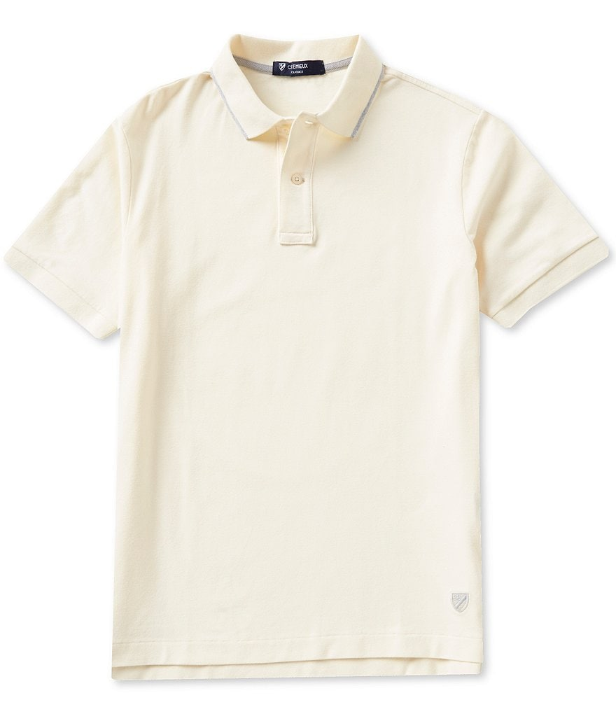 Cremieux Short-Sleeve Slim-Fit Polo Shirt