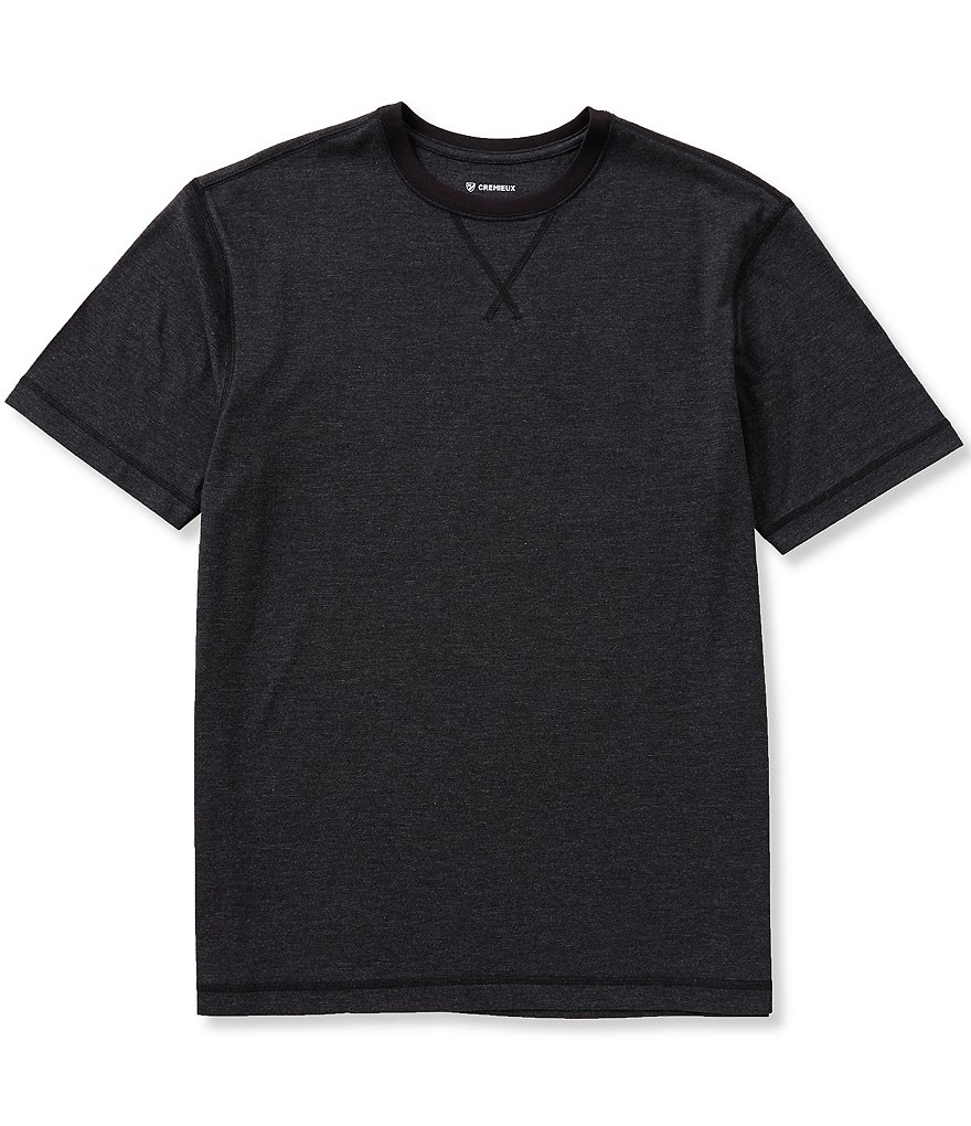 Cremieux Short-Sleeve End-On-End Jersey Crew Tee