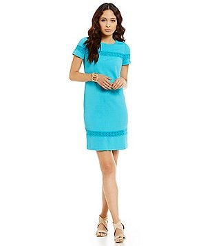 London Times Geo Diamond Sheath Dress
