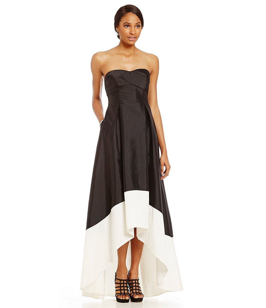 Adrianna Papell Two-Tone Hi-Low Gown