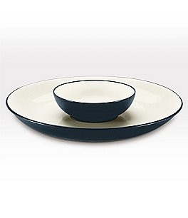 Noritake Colorwave Coupe Matte & Glossy Stoneware Chip & Dip Server Image