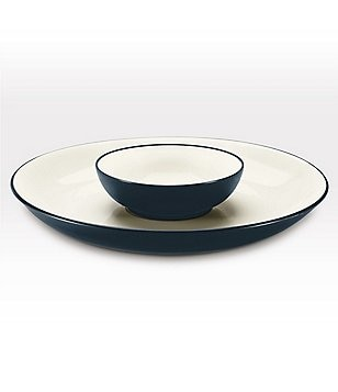 Noritake Colorwave Coupe Matte & Glossy Stoneware Chip & Dip Server