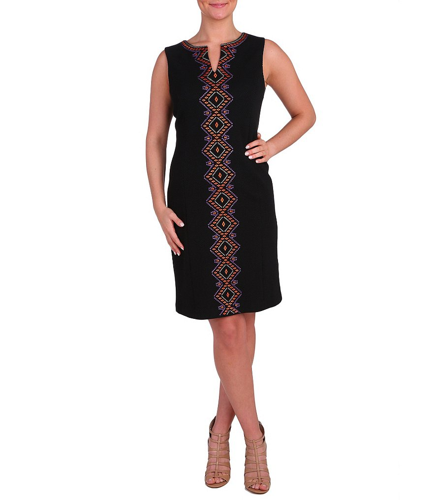 Peter Nygard Embroidered Sloane Sheath Dress