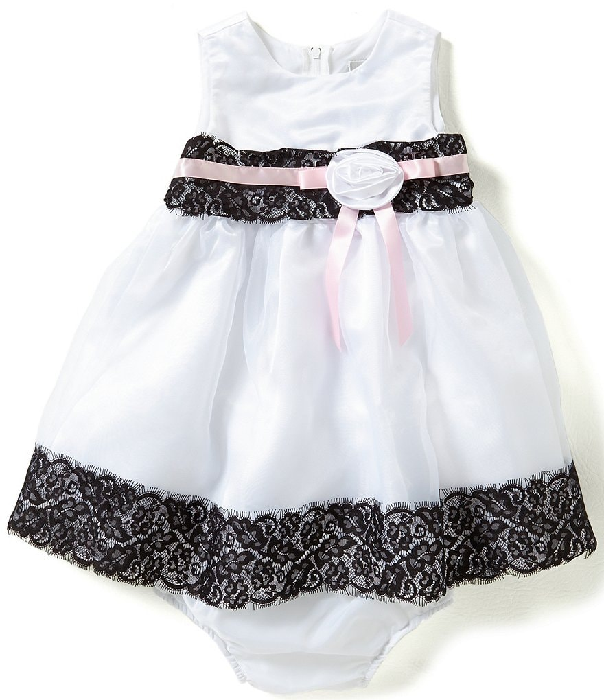 Rare Editions Baby Girls 12-24 Months Lace-Detailed Organza Dress