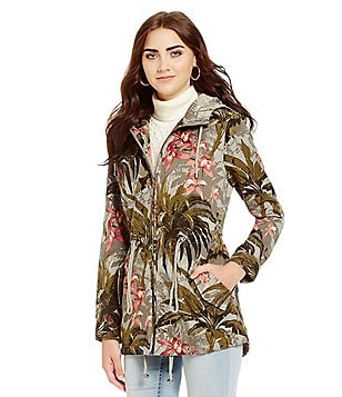 Tommy Bahama Jungle Garden Drawstring Fit-and-Flare Jacket