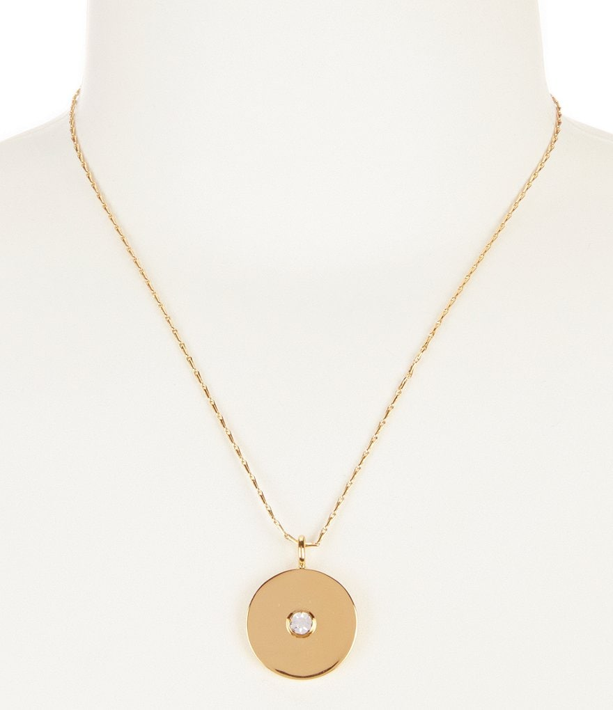 kate spade new york Set in Stone Metal Disc Necklace