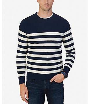 Nautica Breton Striped Crewneck Sweater