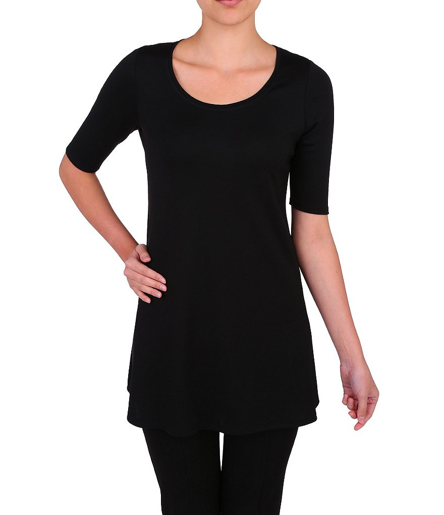 Peter Nygard Petite Essential Elbow-Length Sleeve Tunic