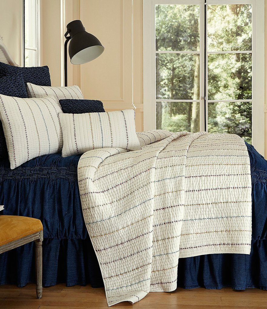 Studio D Alexa Linear-Embroidered Quilt Mini Set