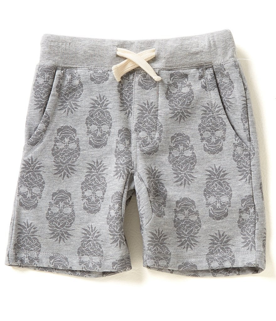 First Wave Little Boys 2T-7 Skull Print Knit Short