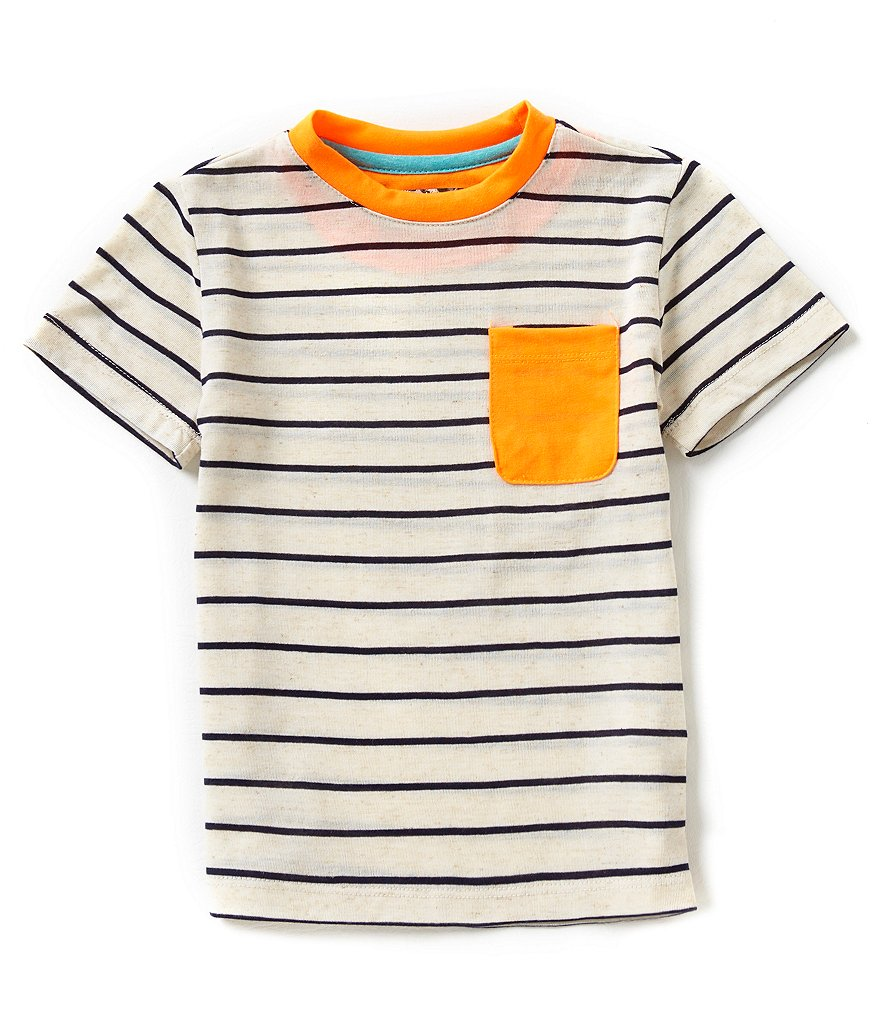First Wave Little Boys 2T-7 Striped Crewneck Tee