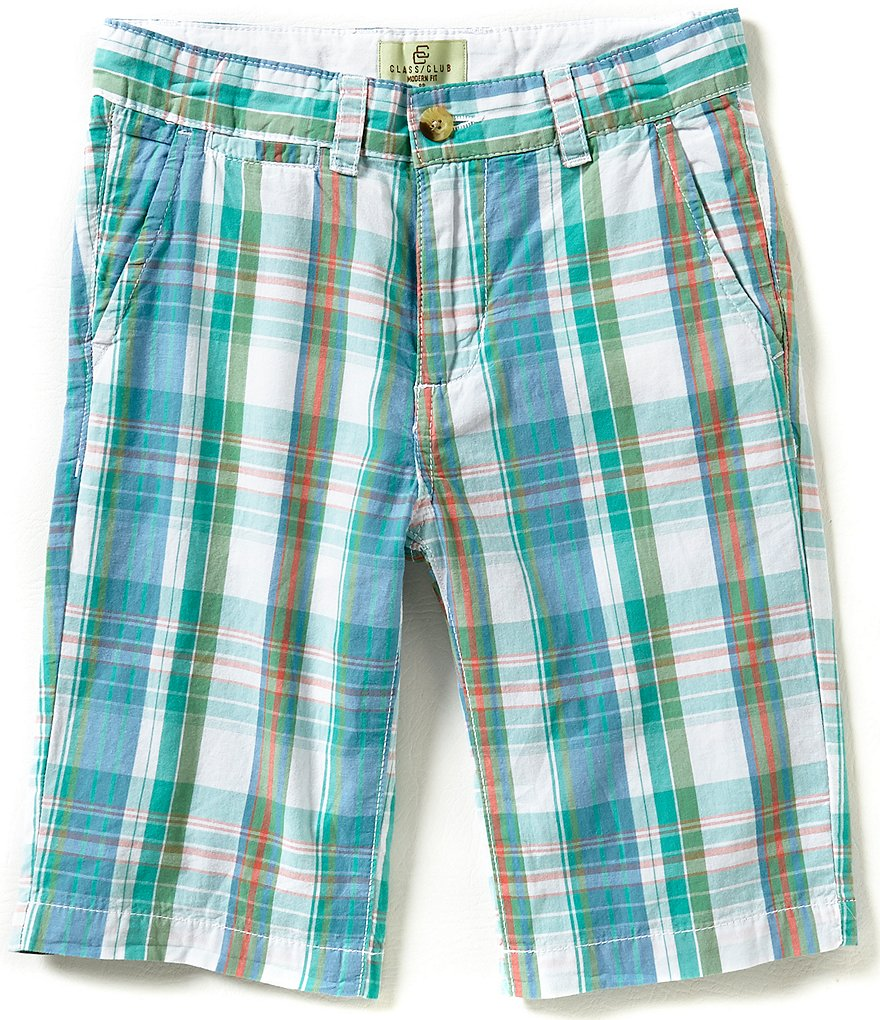 Class Club Little Boys 2T-7 Plaid Shorts