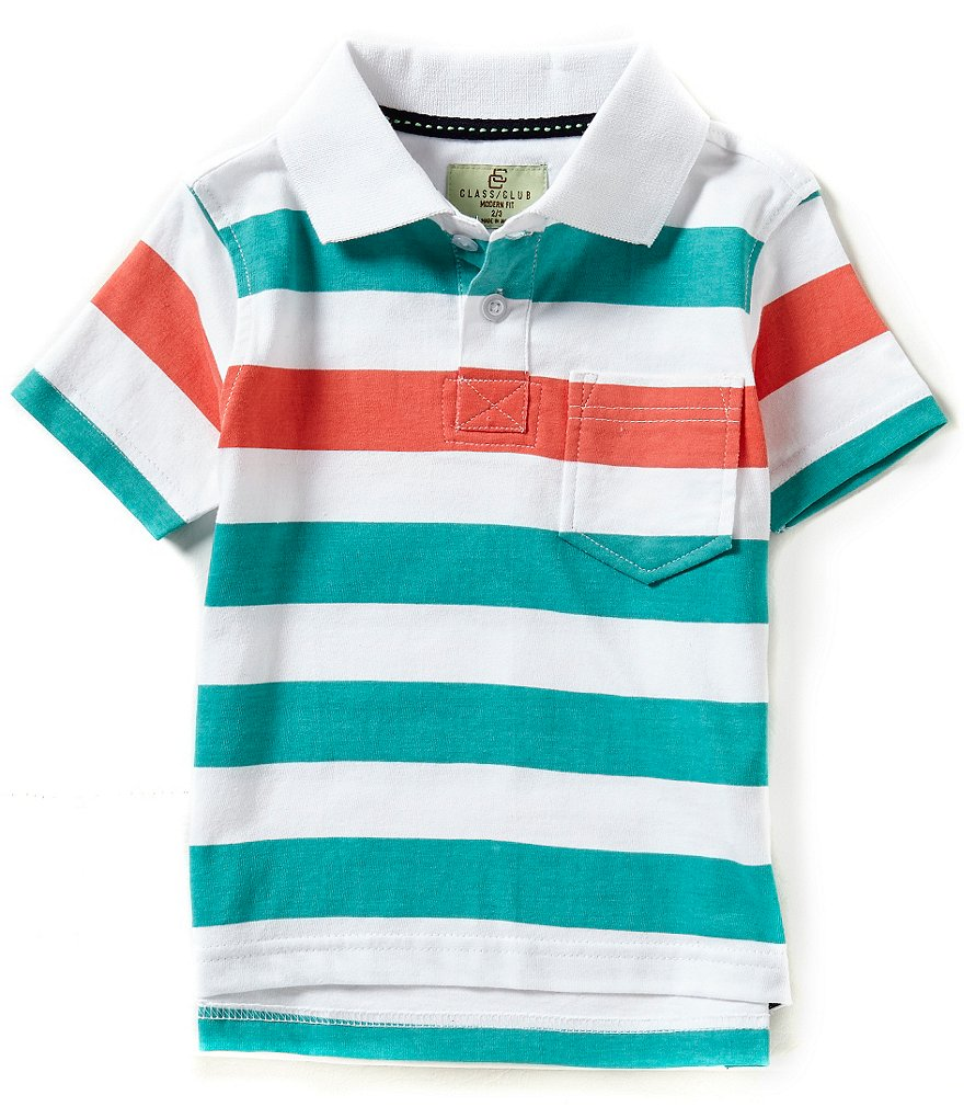 Class Club Little Boys 2T-7 Striped Polo Shirt
