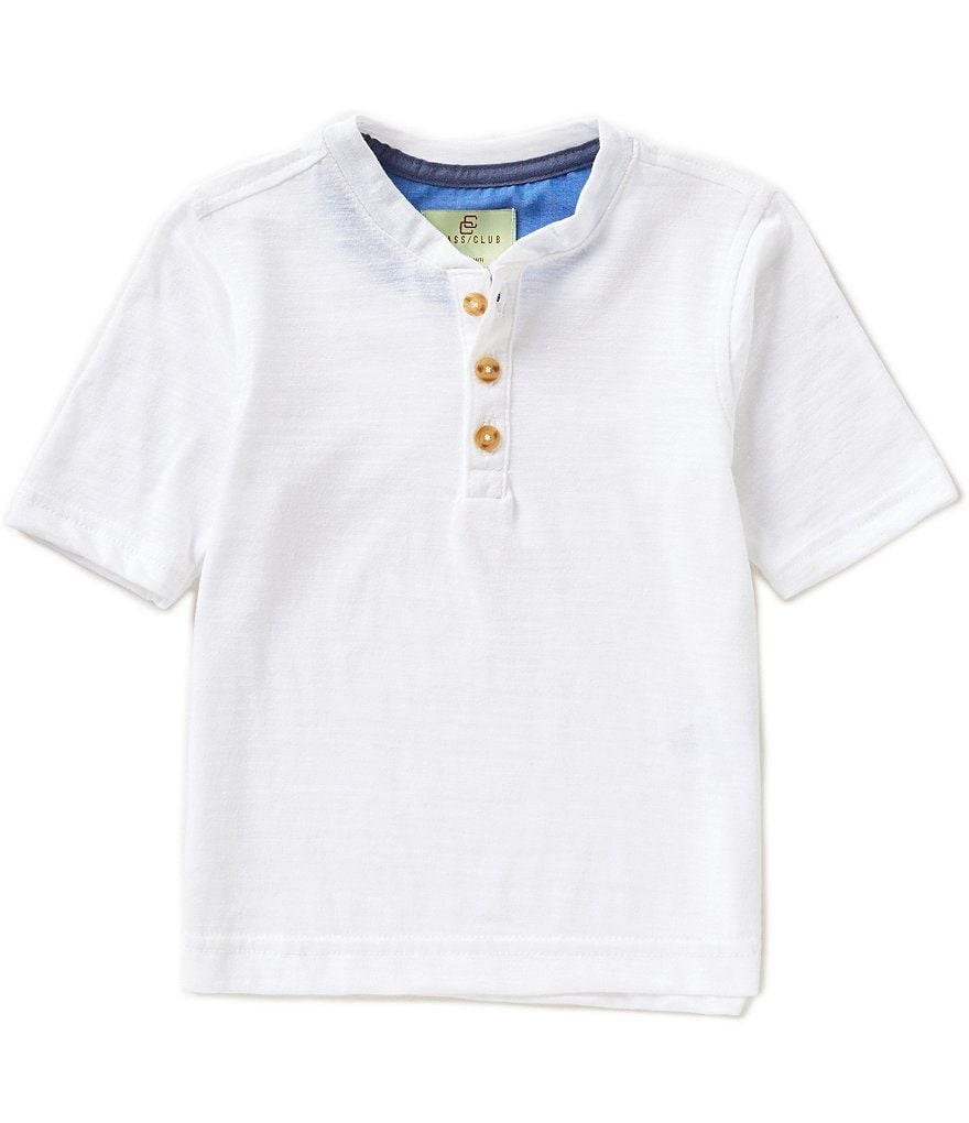 Class Club Little Boys 2T-7 Slub Henley Tee