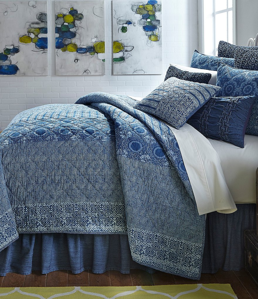 Studio D Jabari Pieced & Dotted Voile Quilt Mini Set