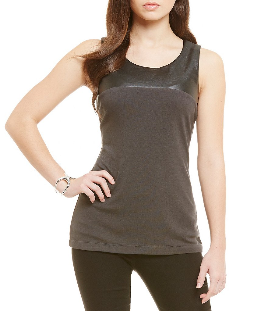 ZOZO Chalet Sleeveless Faux Leather Top
